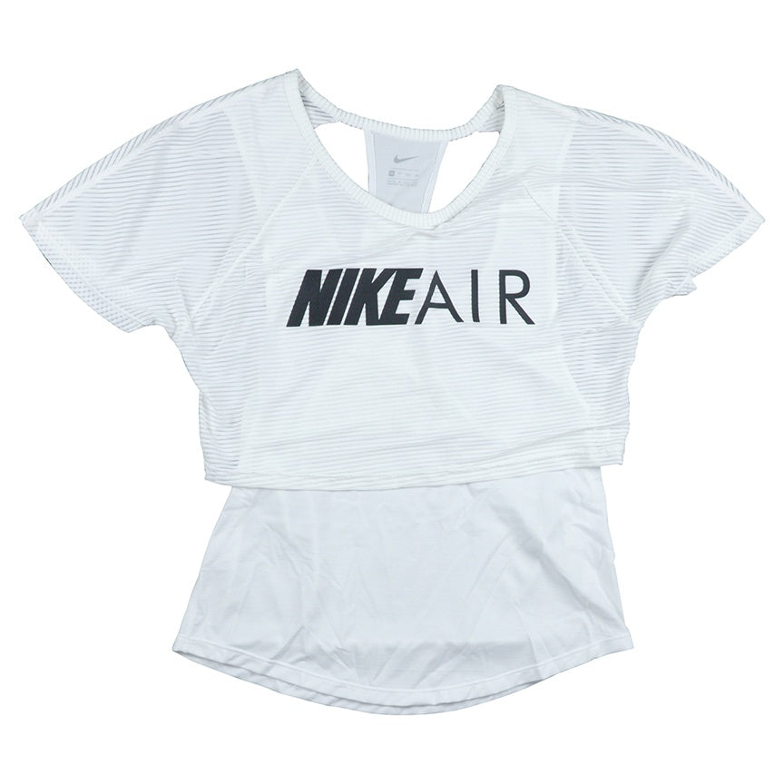 Nike Air Women's White Graphic Running Top