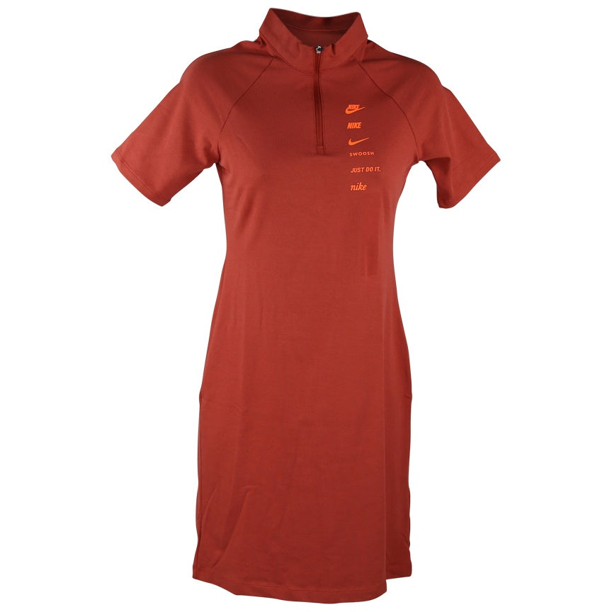 Nike Sportswear Swoosh Rust Dress