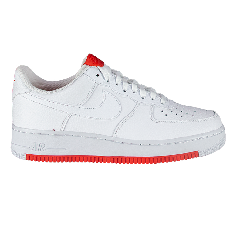 ebe97ce56680f5 Nike Air Force 1  07 1 White Habanero Red