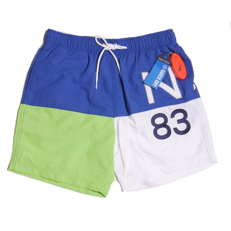 Nautica Men's Lime Quick Dry Colorblock Swim Short