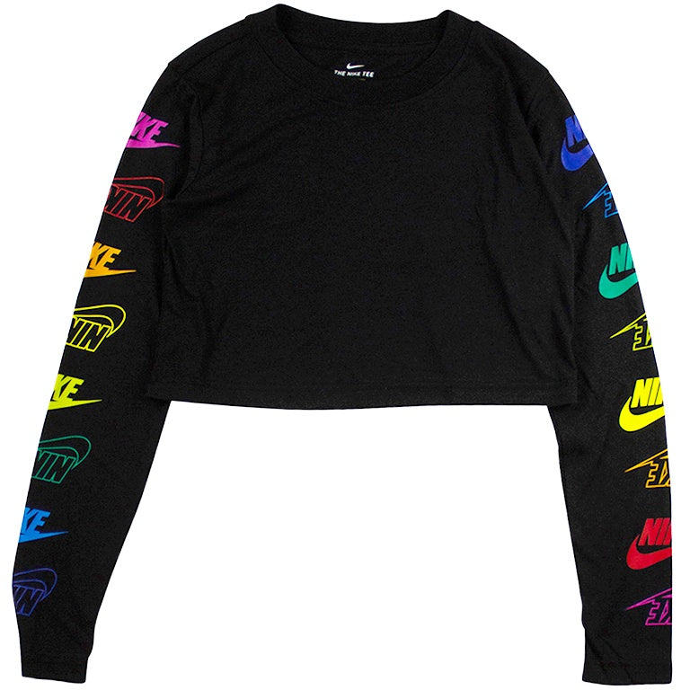 e7684369 Nike Sportswear Women's Black Long-Sleeve T-Shirt