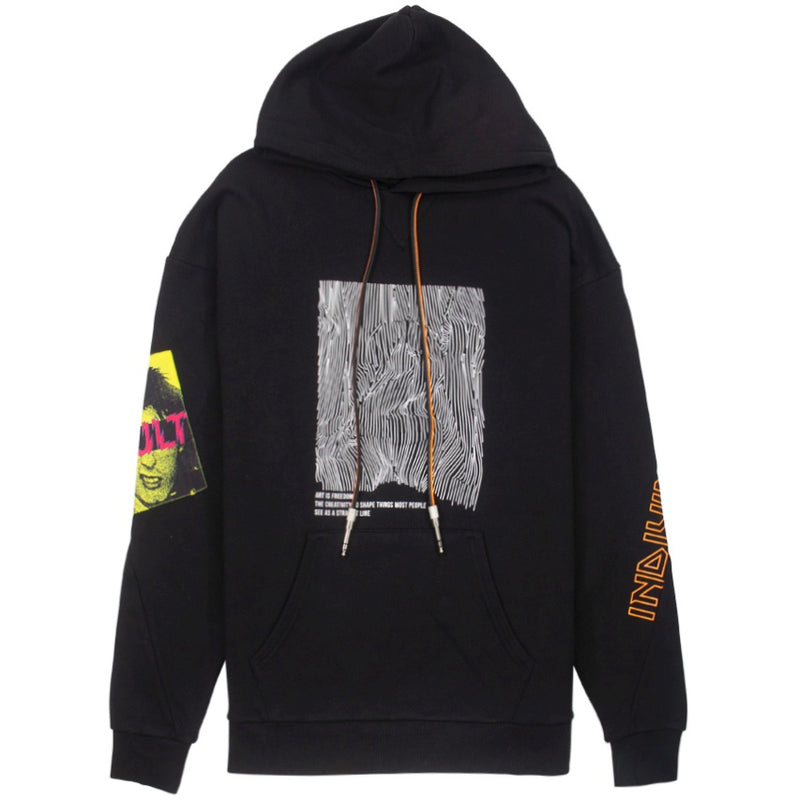 Cult Of Individuality Pullover Patchwork Hoodie