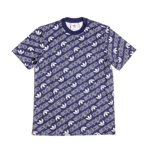 Adidas Men's Blue Monogram T-Shirt