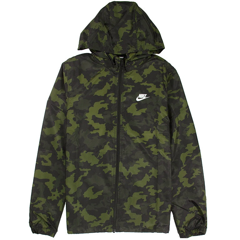 Nike Sportswear Hooded Camo Green Jacket
