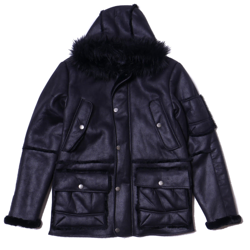 Shabazz Brother 3-Quarter Length Sherling Coat