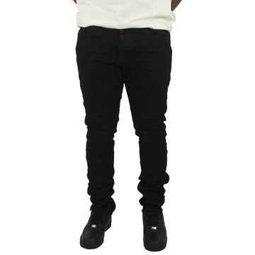 Purple Brand Slim Fit Black Resin 3/D Denim Jeans