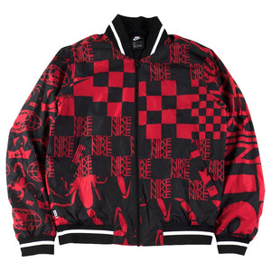 Nike Sportswear Black/Red Printed Jacket