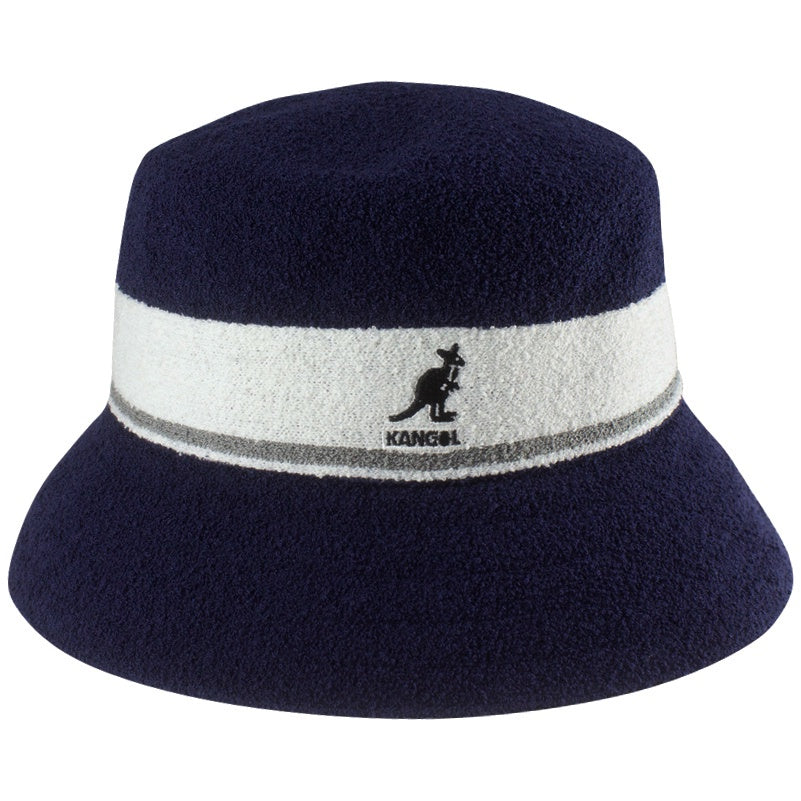Kangol Bermuda Stripe Bucket Navy