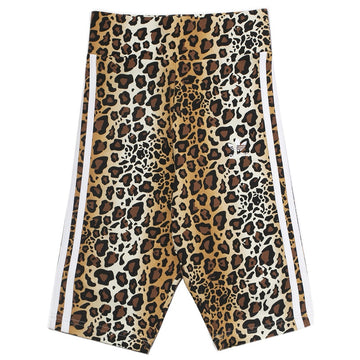 Adidas Originals Women's Leopard Print Biker Shorts