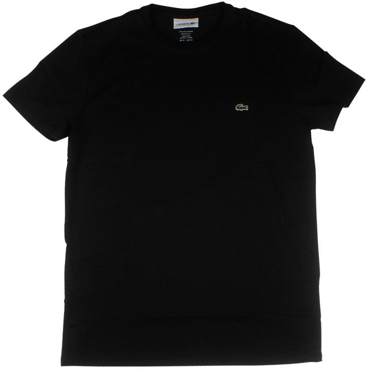 Lacoste Black Pima Cotton Jersey T-Shirt