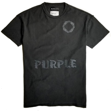 Purple Brand Relaxed Fit Wreath Black T-Shirt
