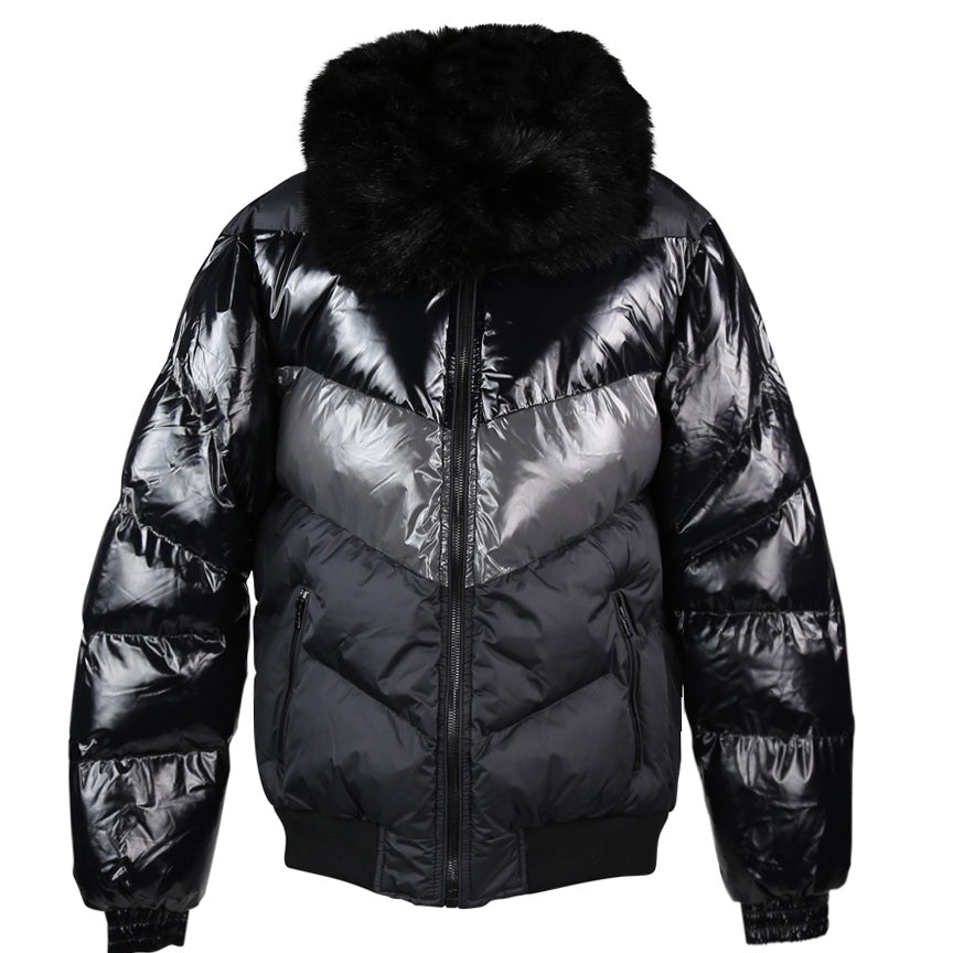 Jordan Craig Sugar Hill Nylon Black Puffer Jacket