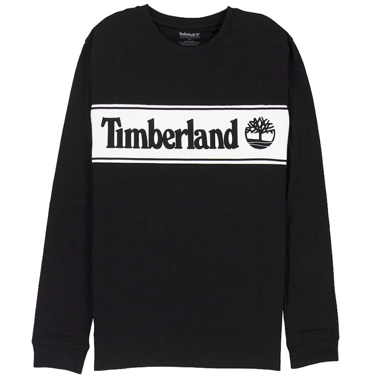 Timberland Cut & Sew Linear Logo Black T-Shirt