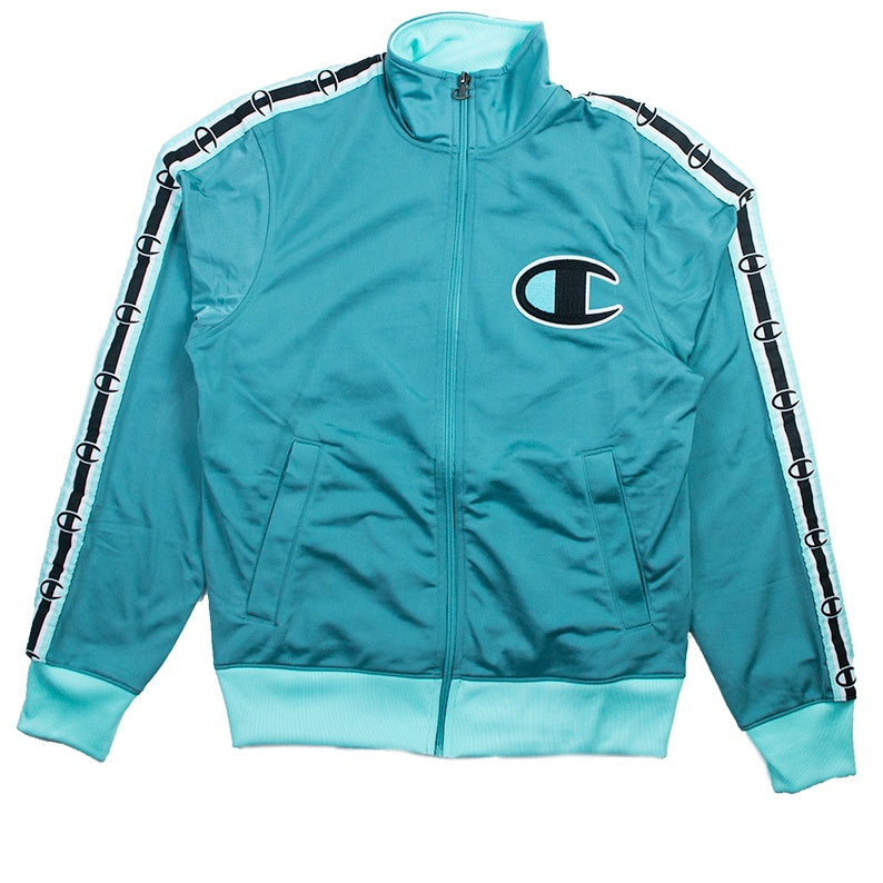Champion Men's Green Side Tape Track Jacket