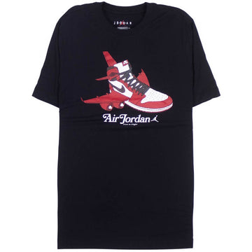 Air Jordan Retro 1 Hi Graphic T-Shirt 'Black'