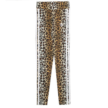 Adidas Originals Women's Leopard Print Leggings 'Brown'