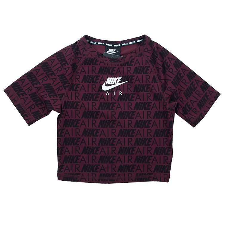 Nike Air Women's Burgundy Short-Sleeve Print Top