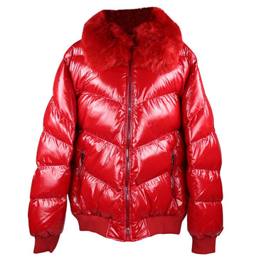 Jordan Craig Sugar Hlll Nylon Red Puffer Jacket