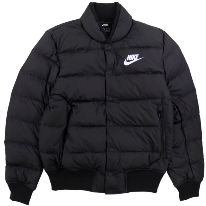 Nike NSW Down Fill Black Bomber Jacket