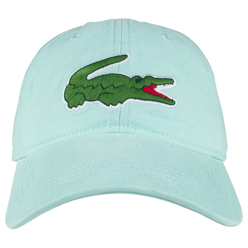 Lacoste Light Green Big Croc Gabardine Cap