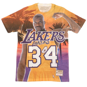 Mitchell & Ness City Pride SS T-Shirt Los Angeles Lakers Shaquillle O'Neal