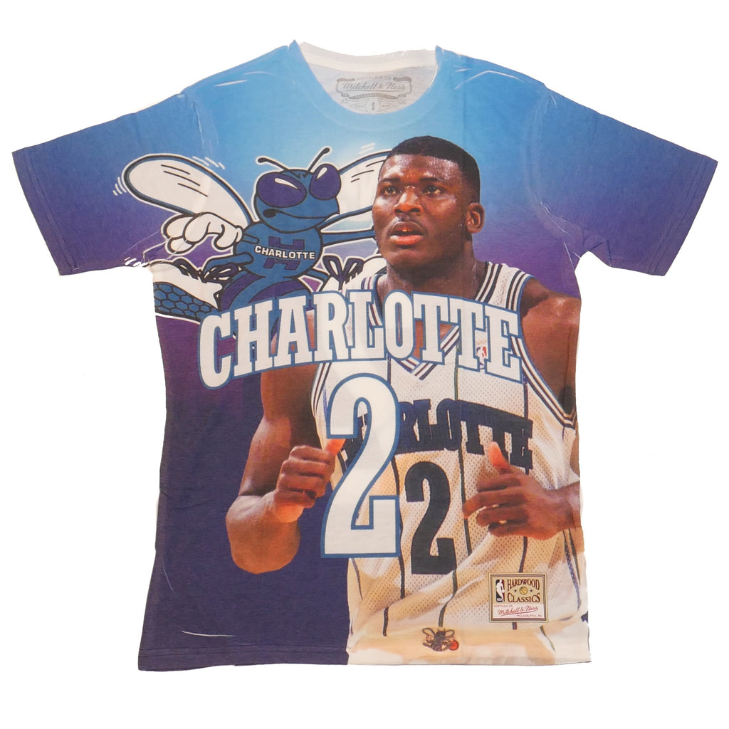 Mitchell & Ness City Pride SS T-Shirt Charlotte Hornets Larry Johnson