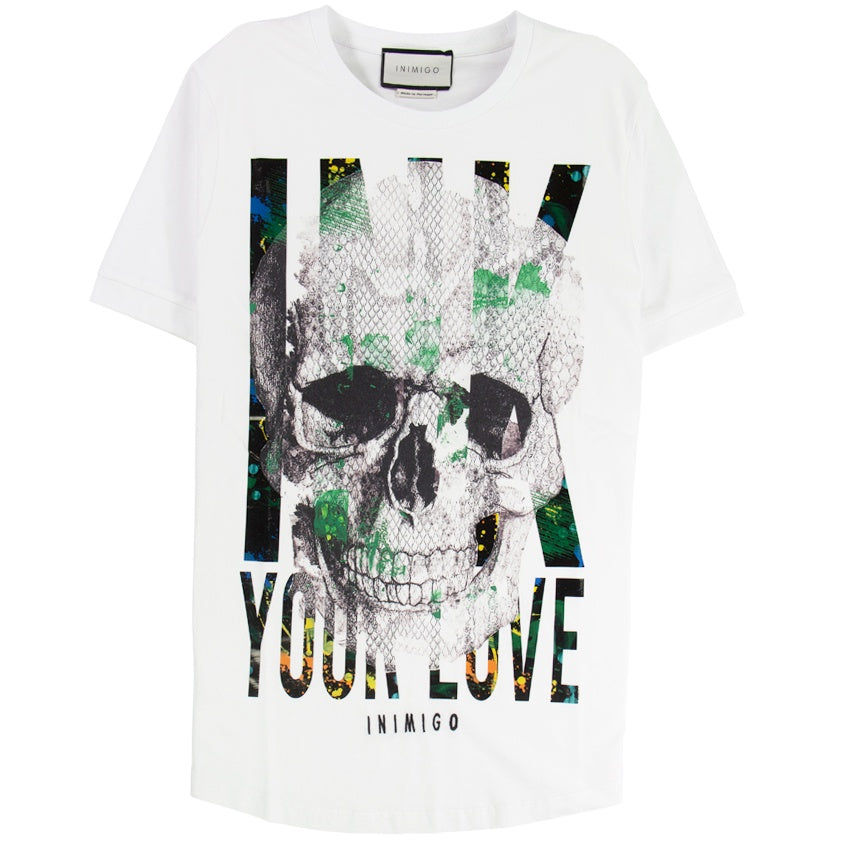 Inimigo Skull Ink Your Love White T-Shirt