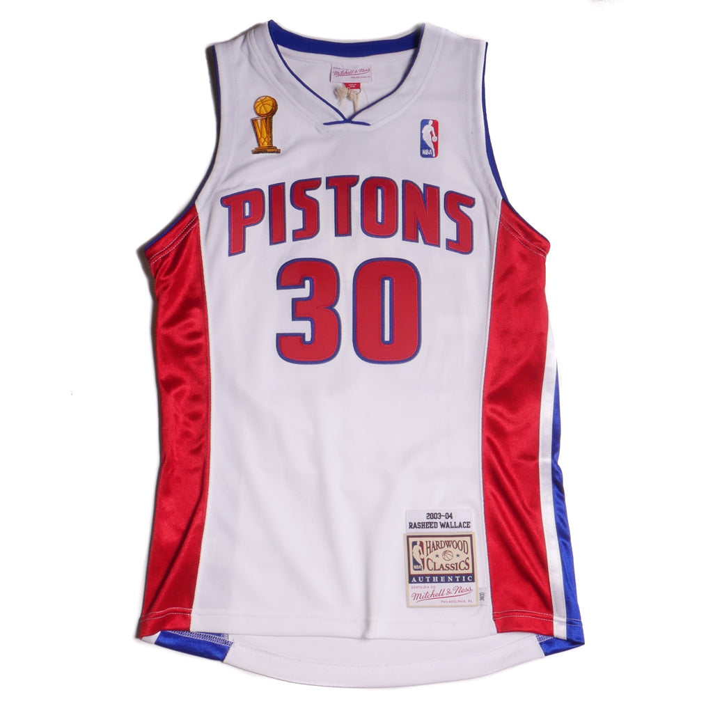 Mitchell & Ness Authentic Detroit Pistons Jersey 03-04 Finals Wallace