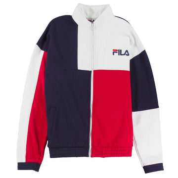 Fila Men's Roland Colorblock Full-Zip Fleece Sweatshirt