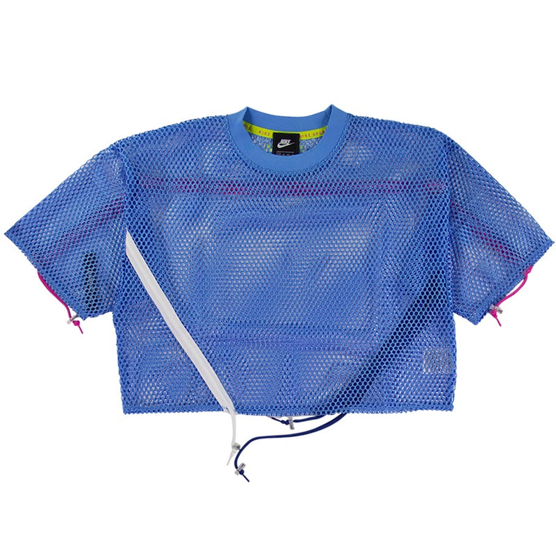 Nike Sportswear Women's Blue Mesh Top