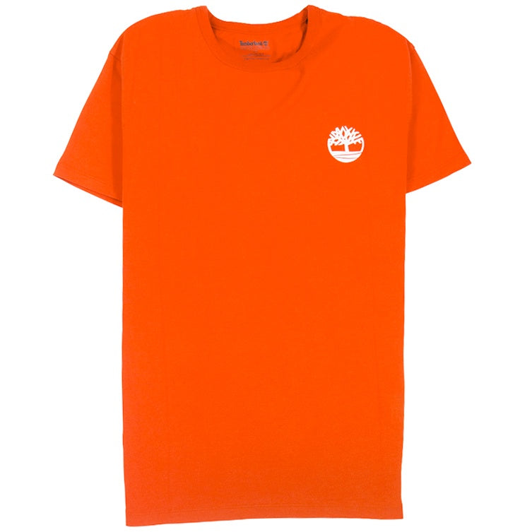 Timberland Camo Back Logo Orange T-Shirt