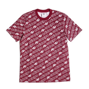 Adidas Men's Maroon Monogram T-Shirt