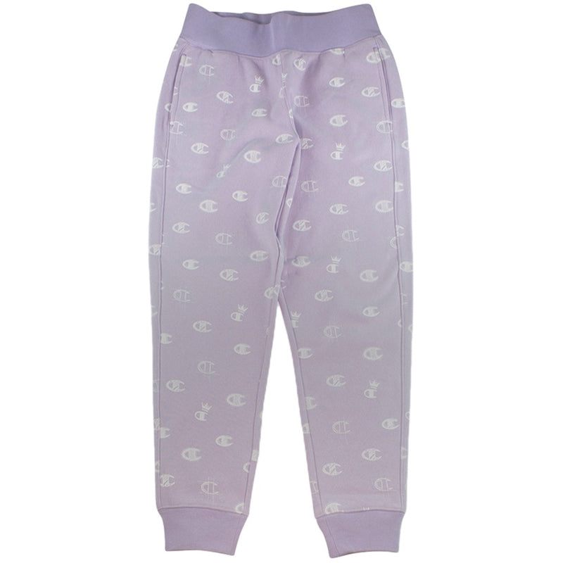 Champion Women's Reverse Weave Purple 'C's All Over' Jogger