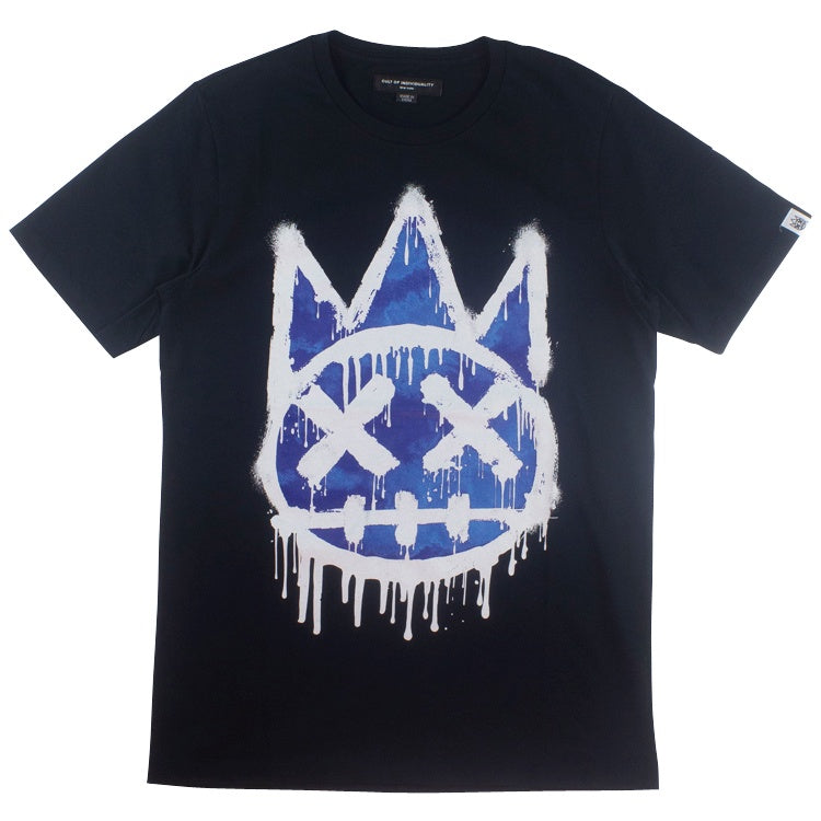 Cult of Individuality Navy Krylon Shimuchan Crew Neck T-Shirt