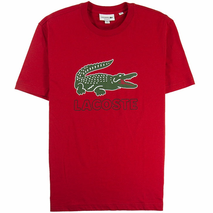 Lacoste Red Graphic Croc T-Shirt
