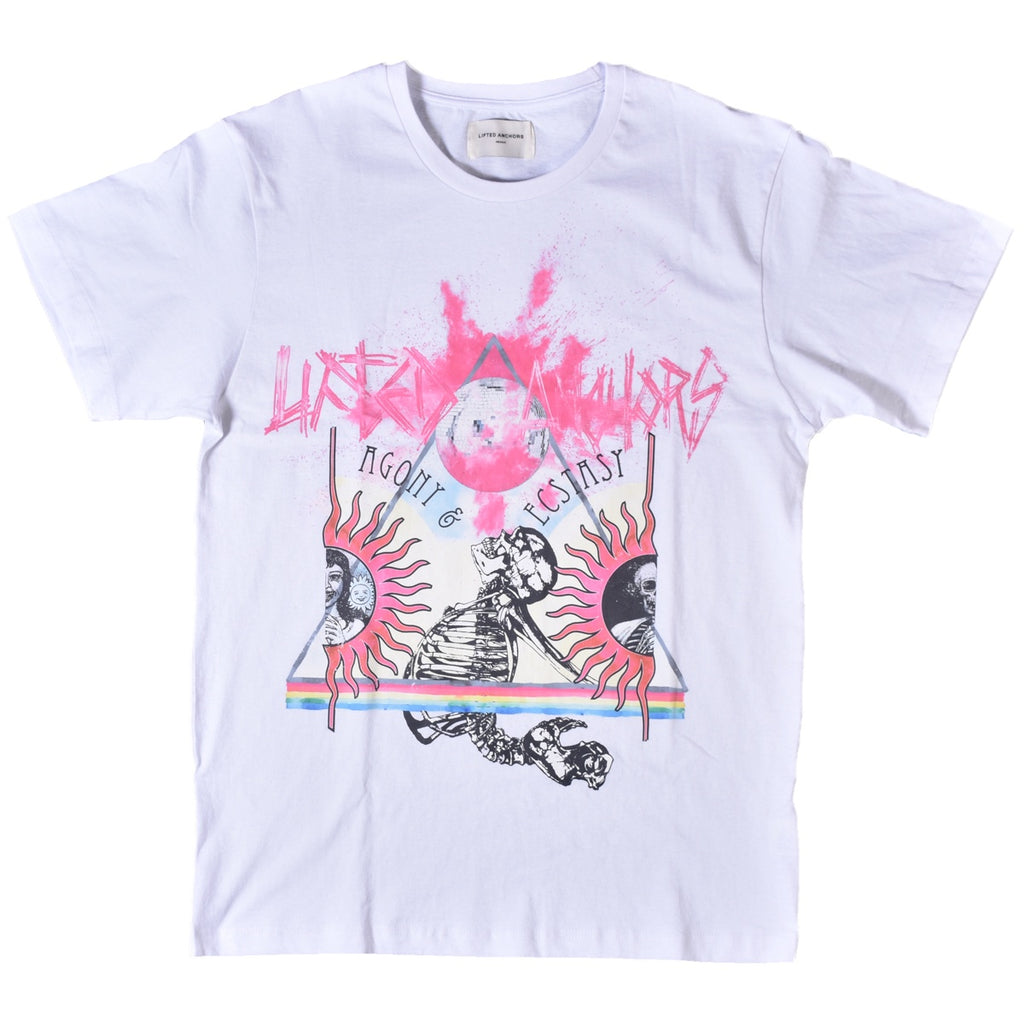 Lifted Anchors White Disco T-Shirt