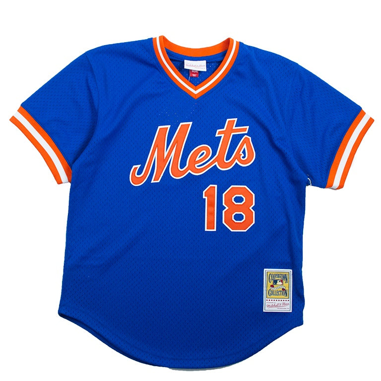Mitchell & Ness Mesh BP Jersey New York Mets Darryl Strawberry