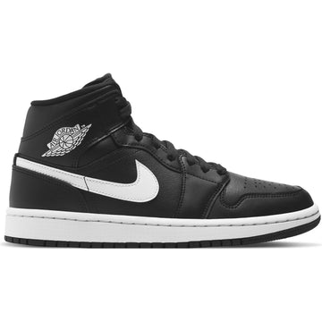 Air Jordan Women's 1 Mid Black/White