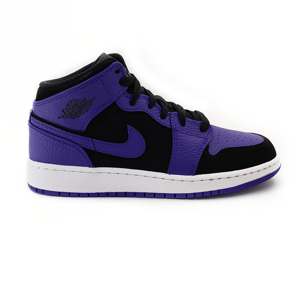 Air Jordan 1 Mid Kids Black Dark Concord (GS)