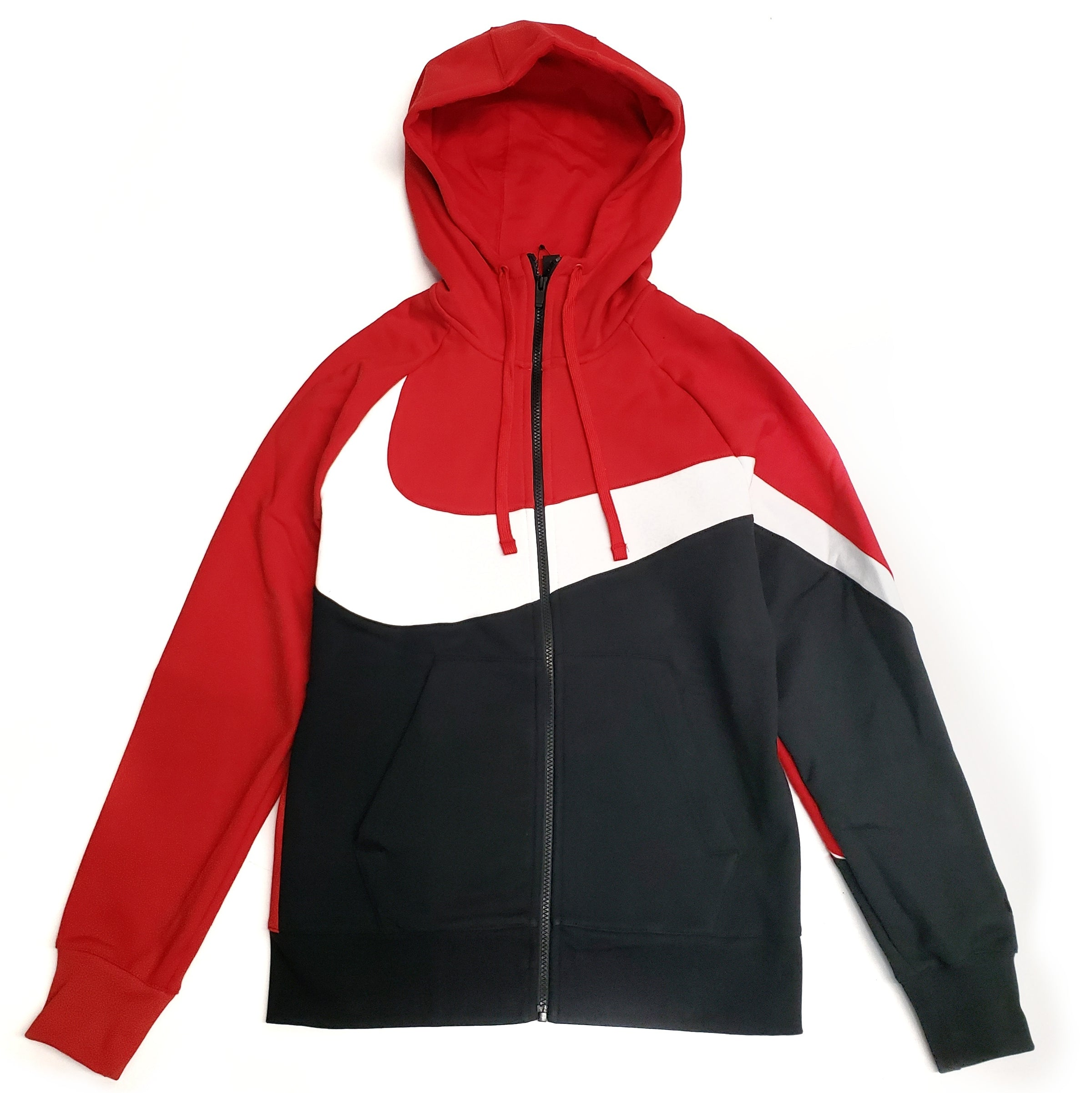 3d8ce1fa1 Nike Men's NSW Full-Zip Red/Black Swoosh Hoodie – Puffer Reds