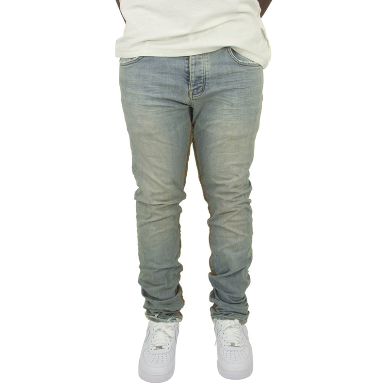 Purple Brand Reverse Inseam Light Indigo Denim Jeans
