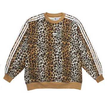 Adidas Originals Women's Leopard Print Crew 'Brown'