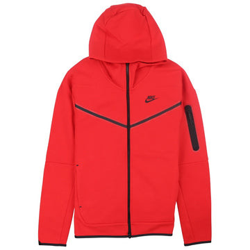 Nike Sportswear Tech Fleece Full-Zip Red Hoodie