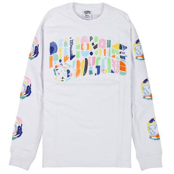 Billionaire Boys Club Abstract Arch LS White T-Shirt