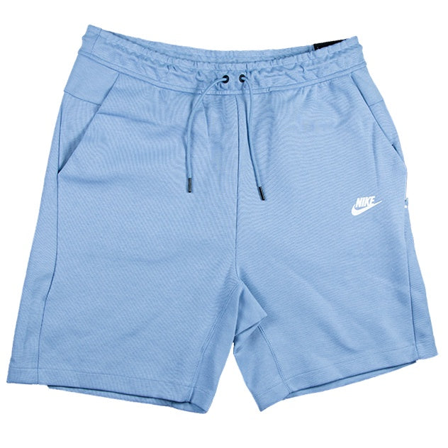 Nike Sportswear Tech Light Blue Fleece Shorts