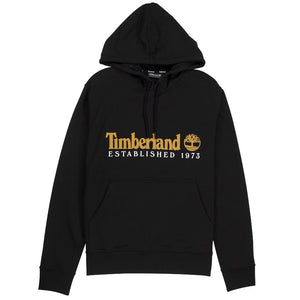 Timberland Essential 1973 Classic Logo Black Hoodie