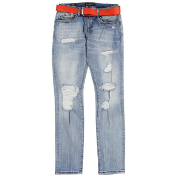 Cult Of Individuality Rocker Slim Straight Belted Jeans
