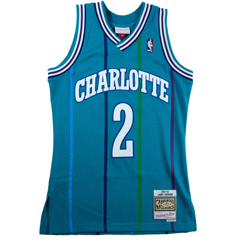 Mitchell & Ness Swingman Jersey Charlotte Hornets 1992 Larry Johnson