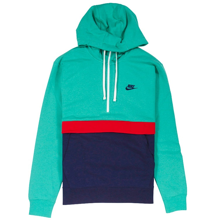 Nike NSW Green Club Fleece Half-Zip Hoodie