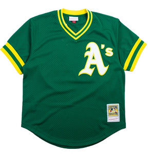 Mitchell & Ness Mesh BP Jersey Oakland Athletics Reggie Jackson